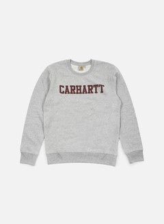 Carhartt - College Sweatshirt, Grey Heather/Cordovan 1