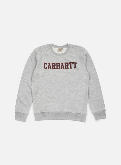 felpe carhartt college sweatshirt grey heather cordovan
