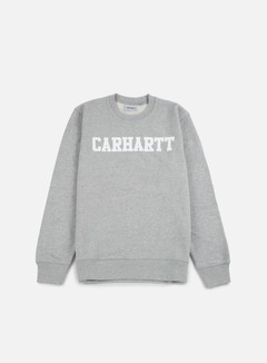 Carhartt - College Sweatshirt, Grey Heather/White