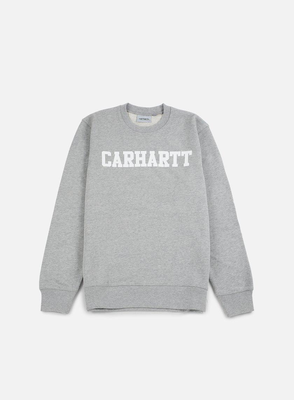 Carhartt - College Sweatshirt, Grey Heather/White