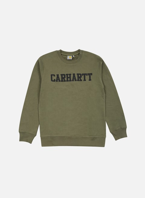felpe carhartt college sweatshirt leaf black