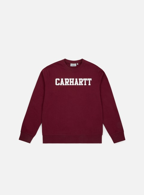 felpe carhartt college sweatshirt mulberry white