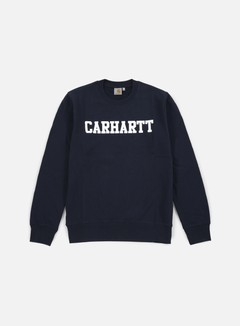 Carhartt - College Sweatshirt, Navy/White