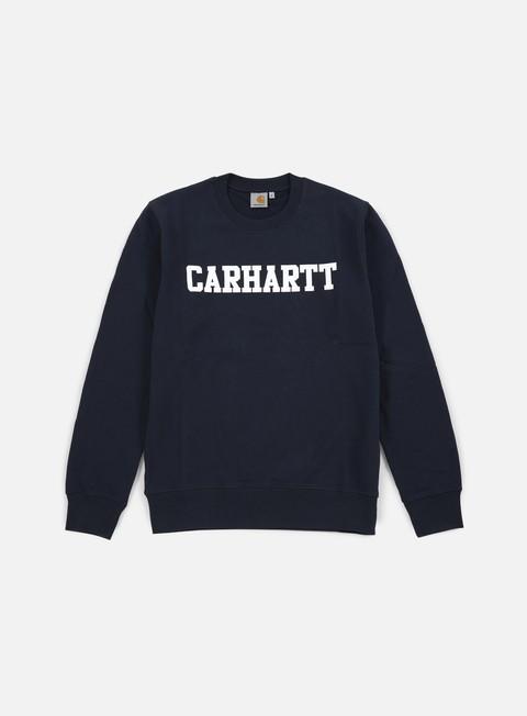 felpe carhartt college sweatshirt navy white