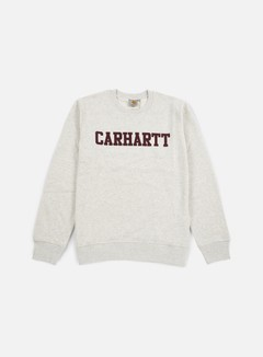 Carhartt - College Sweatshirt, Snow Heather/Chianti 1
