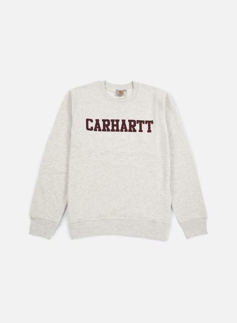 felpe carhartt college sweatshirt snow heather chianti