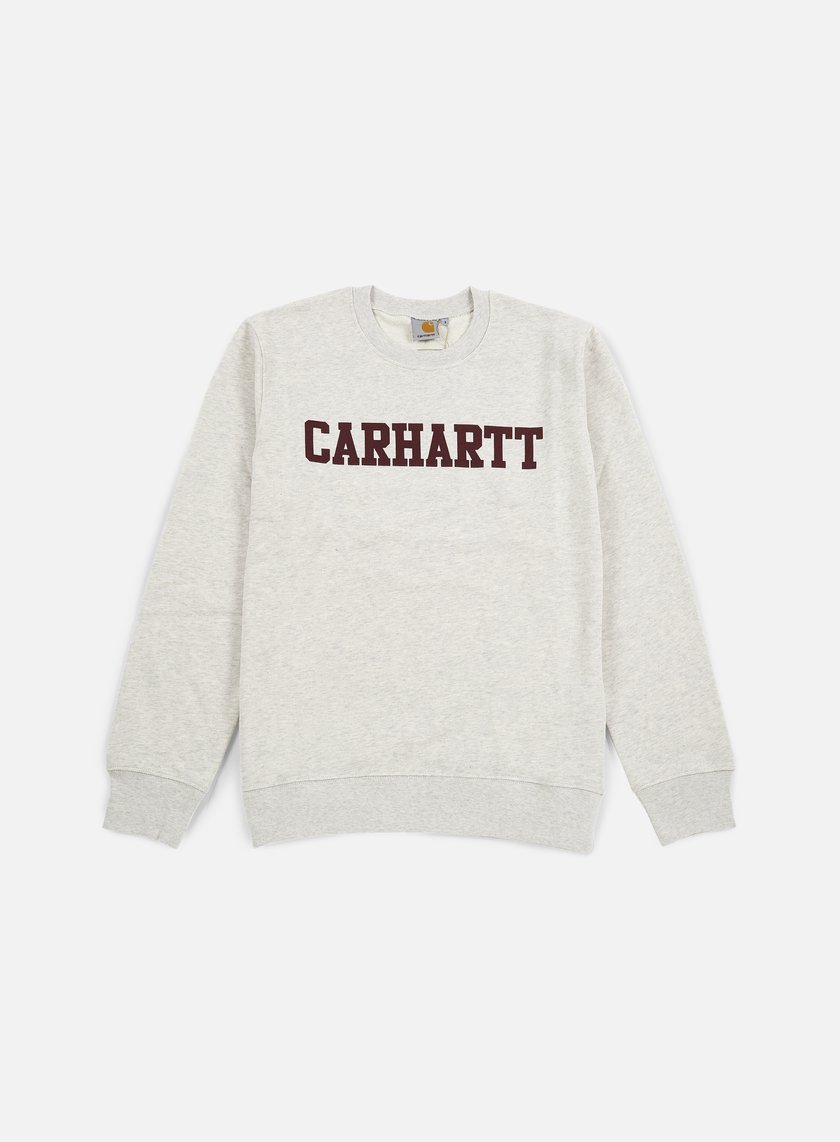 Carhartt - College Sweatshirt, Snow Heather/Chianti