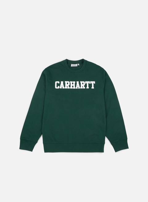 felpe carhartt college sweatshirt tasmania white