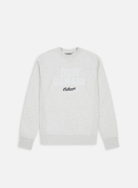 felpe carhartt doin damage sweatshirt ash heather