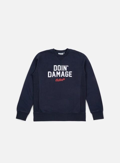 felpe carhartt doin damage sweatshirt navy