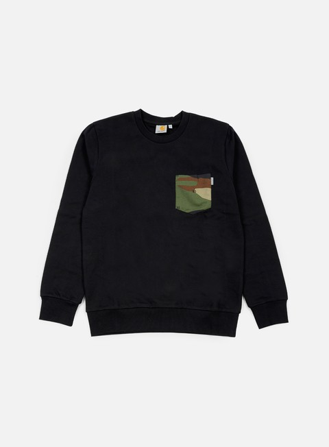 felpe carhartt eaton pocket sweatshirt black camo 313 green