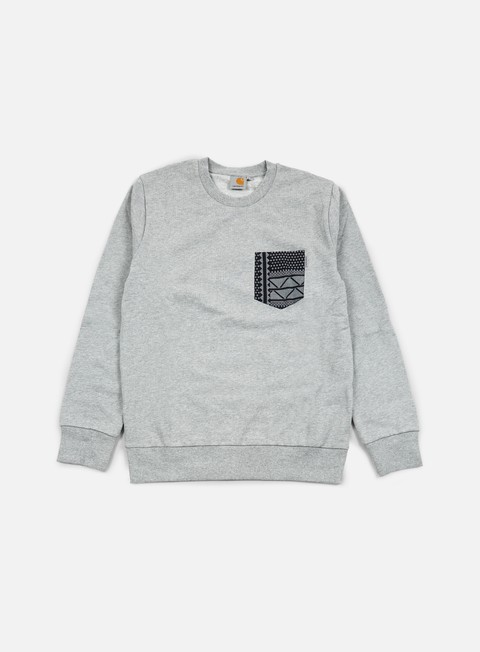 felpe carhartt eaton pocket sweatshirt grey heather assyut print black
