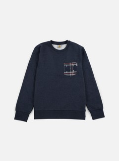 Carhartt - Eaton Pocket Sweatshirt, Navy Heather/Jupiter Heather Carlos Check