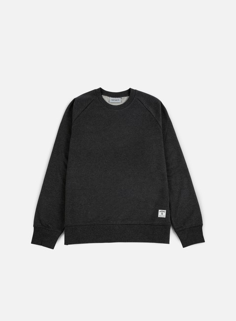 felpe carhartt holbrook lt crewneck black heather
