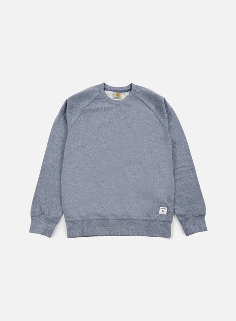 felpe carhartt holbrook lt crewneck blue noise heather