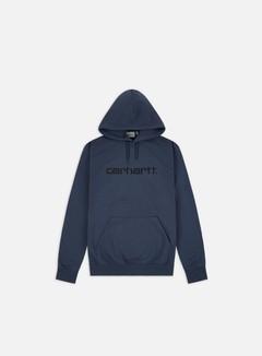 Carhartt - Hooded Carhartt Sweatshirt, Admiral/Black