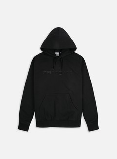 Carhartt - Hooded Carhartt Sweatshirt, Black/Black