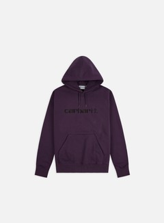 Carhartt - Hooded Carhartt Sweatshirt, Boysenberry/Black