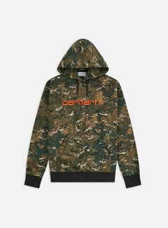 Carhartt - Hooded Carhartt Sweatshirt, Camo Combi/Safety Orange