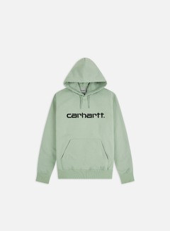 Carhartt - Hooded Carhartt Sweatshirt, Frosted Green/Black