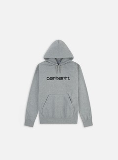 Carhartt - Hooded Carhartt Sweatshirt, Grey Heather/Black