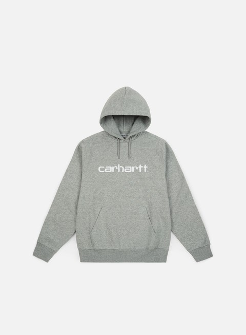 felpe carhartt hooded carhartt sweatshirt grey heather white