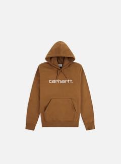 Carhartt - Hooded Carhartt Sweatshirt, Hamilton Brown/White