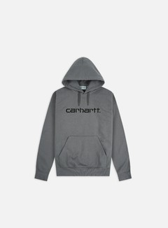 Carhartt - Hooded Carhartt Sweatshirt, Husky/Black