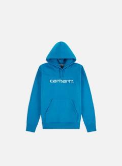 Carhartt - Hooded Carhartt Sweatshirt, Pizol/White
