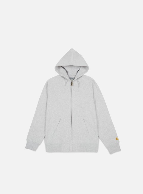 felpe carhartt hooded chase jacket ash heather gold