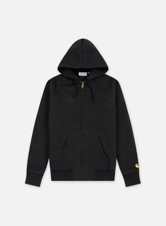 Carhartt - Hooded Chase Jacket, Black/Gold