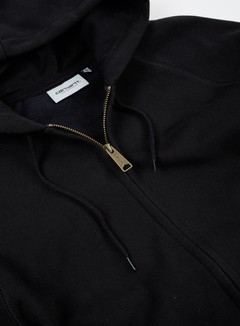 Carhartt - Hooded Chase Jacket, Black/Gold 2