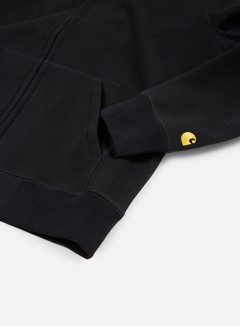 Carhartt - Hooded Chase Jacket, Black/Gold 3