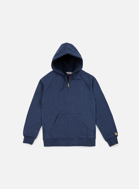 felpe carhartt hooded chase jacket blue