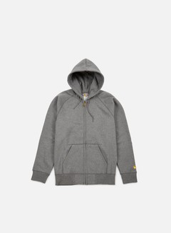 Carhartt - Hooded Chase Jacket, Dark Grey Heather 1