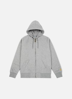 Carhartt - Hooded Chase Jacket, Grey Heather 1