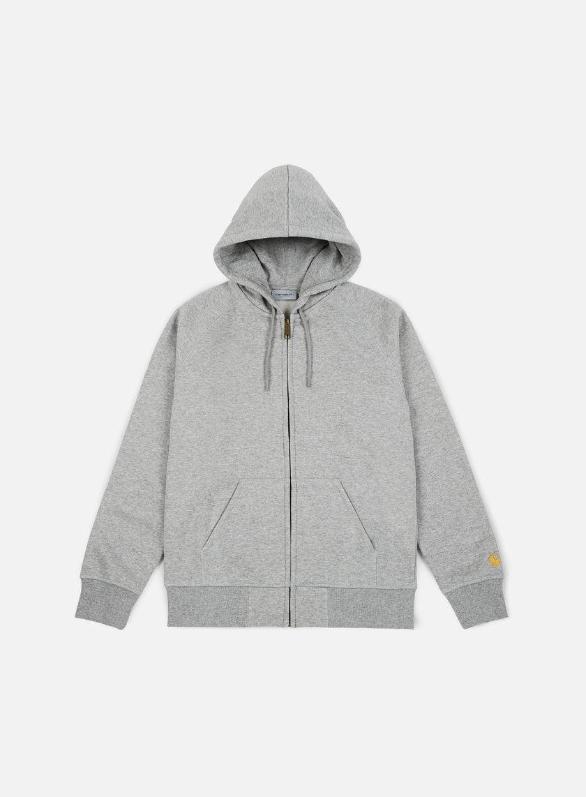 Carhartt - Hooded Chase Jacket, Grey Heather/Gold