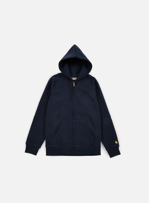 felpe carhartt hooded chase jacket navy