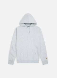Carhartt - Hooded Chase Sweatshirt, Ash Heather/Gold