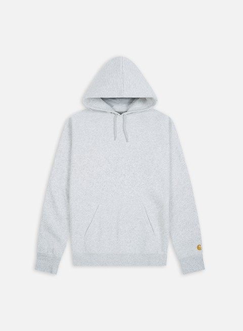 felpe carhartt hooded chase sweatshirt ash heather gold