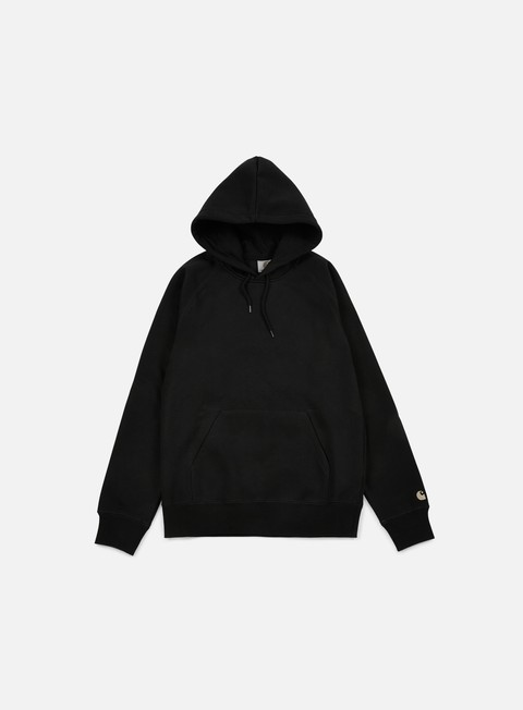 felpe carhartt hooded chase sweatshirt black