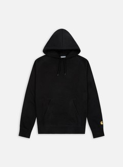 Carhartt - Hooded Chase Sweatshirt, Black/Gold