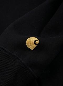 Carhartt - Hooded Chase Sweatshirt, Black/Gold 2