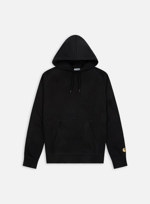 felpe carhartt hooded chase sweatshirt black gold