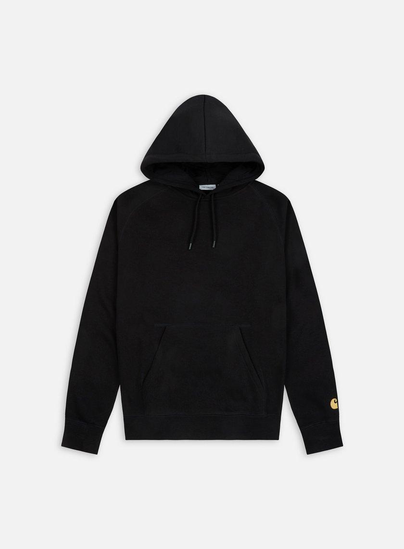 Carhartt - Hooded Chase Sweatshirt, Black/Gold