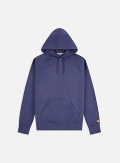 Carhartt - Hooded Chase Sweatshirt, Cold Viola/Gold