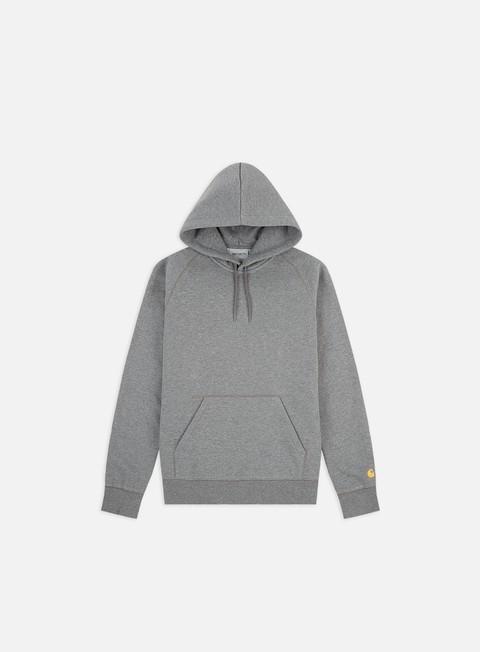 felpe carhartt hooded chase sweatshirt dark grey heather