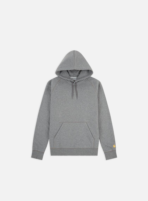 Carhartt - Hooded Chase Sweatshirt, Dark Grey Heather
