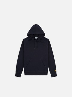 Carhartt - Hooded Chase Sweatshirt, Dark Navy/Gold