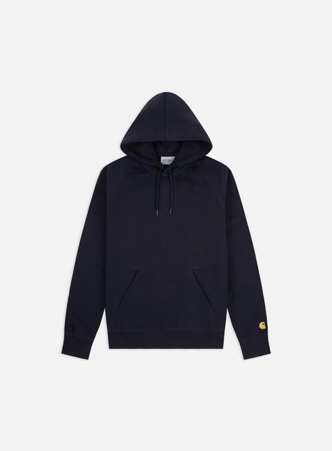 felpe carhartt hooded chase sweatshirt dark navy gold